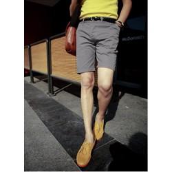 Quần kaki nam short dành cho nam màu xám tro năng động