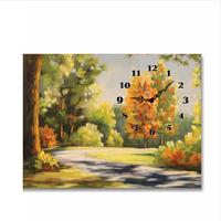 Tranh đồng hồ Tictac - Đường làng