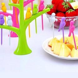 Combo 2 bộ dĩa hoa quả chim đậu cành