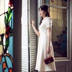 HÀNG ĐỦ SIZE: Đầm vintage cổ sơ mi