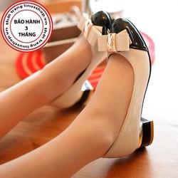 Giày Gót Vuông Nơ Công Chúa - LN944