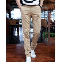 Quần kaki nam ống côn màu kem vải đẹp trẻ trung, cá tính