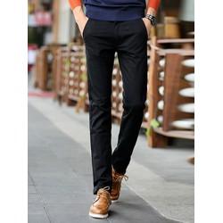 Quần kaki nam màu đen trơn ống côn vải đẹp cho nam