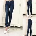 Quần jean nữ lưng cao 2 da jinky cao cấp - QU102150
