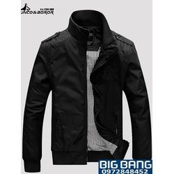 Big Bang - Áo khoác dù cao cấp màu đen KK_44