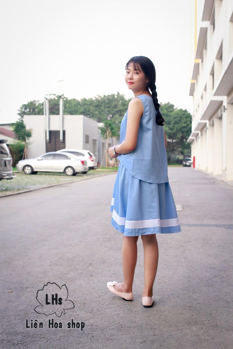 Áo vạt xéo nút gỗ 5