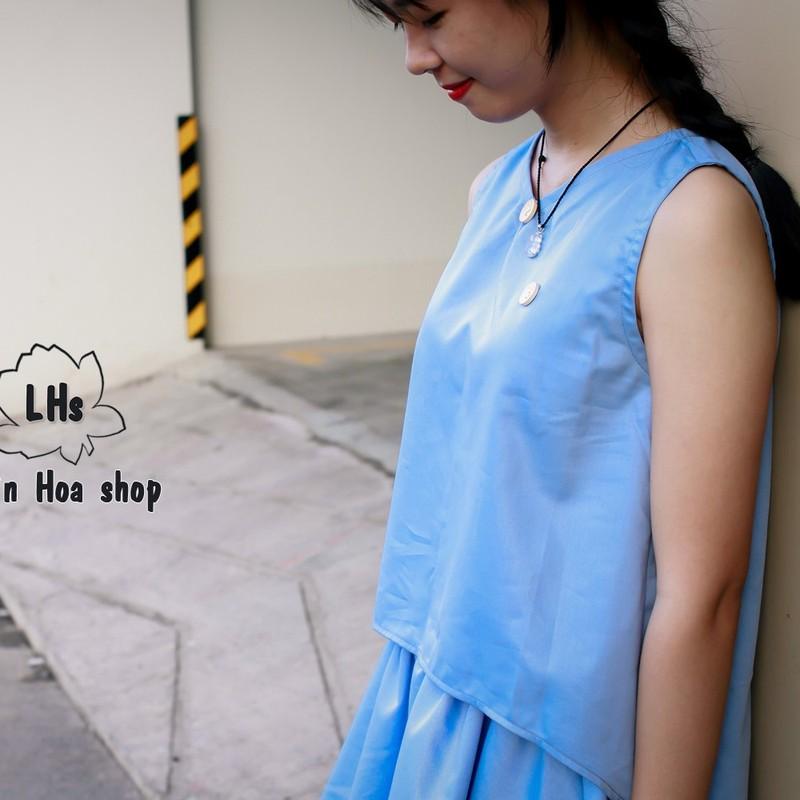 Áo vạt xéo nút gỗ 3