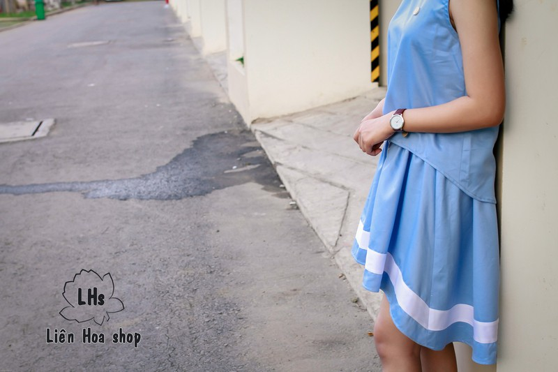 Áo vạt xéo nút gỗ 4