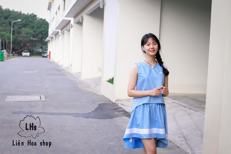 Áo vạt xéo nút gỗ 1