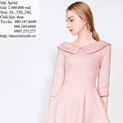 Sp162 - Đầm xòe hồng pastel ngọt dịu