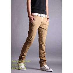 Quần kaki nam màu da bò form dành cho nam giá rẻ nhất