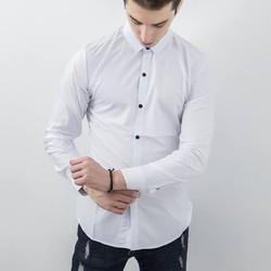 Áo sơ mi trắng vải cực đẹp