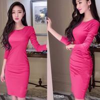 Đầm ôm body nhúng eo tay dài