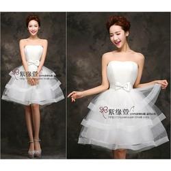 Đầm Xòe Cúp Ngực Đính Nơ Xinh Xắn EKE-D999