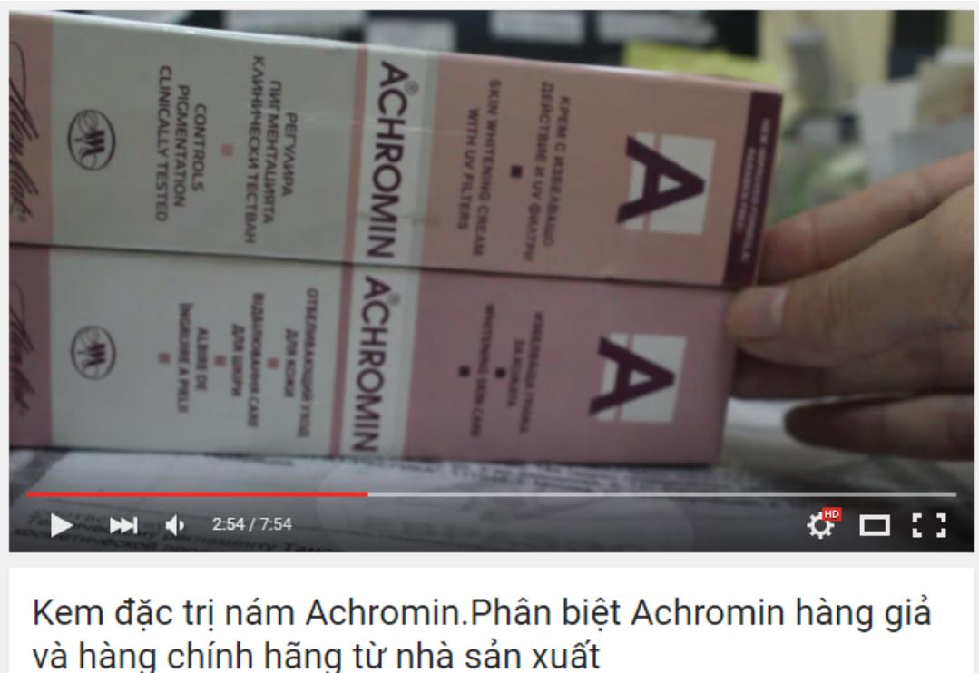 Kem đặc trị nám tàn nhang ACHROMIN Nga 1