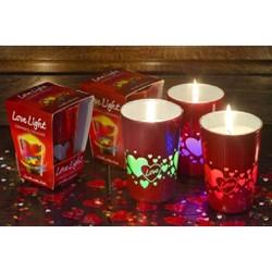 Nến cốc Bartek Love Light with diode - Hương hoa hồng