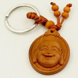 Móc chìa khóa phong thủy đầu tượng Phật di lặc