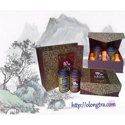 Hộp Trà Oolong Phúc Lộc màu nâu