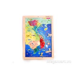 Poomko Bản đồ Việt Nam và biển đảo A4