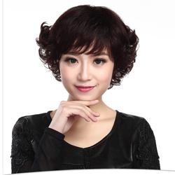 Tóc nữ cao cấp làm từ tóc thật E039