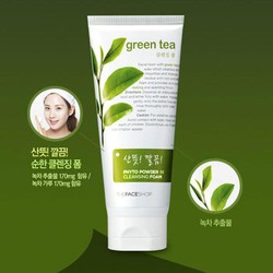 Sữa Rửa Mặt Phyto Powder in cleansing Foam Green Tea The Face Shop