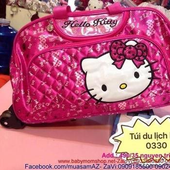 Túi du lịch cần kéo hello kitty da bóng đẹp VL164