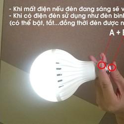 Bóng đèn led tích điện 9W