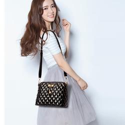 Túi xách nữ sọc hình thoi da mềm thời trang