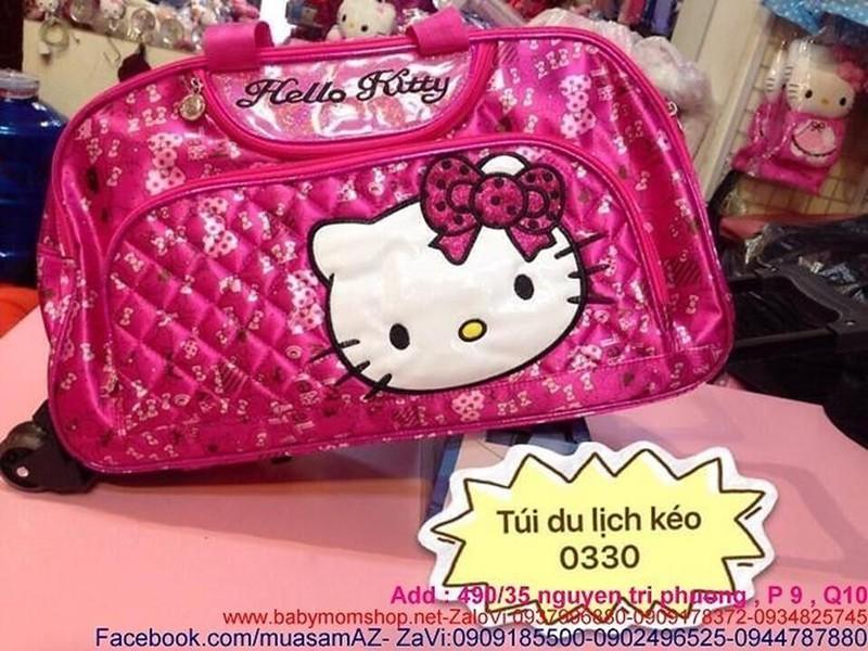 Túi du lịch cần kéo hello kitty da bóng đẹp VL164 1