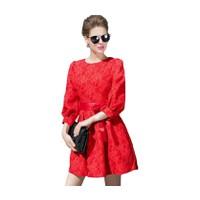 Đầm in hoa hồng nổi 3D-D37116VN-SP Viabrands-bảo hành toàn quốc