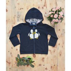 Áo khoác nỉ thêu hình chim cánh cụt