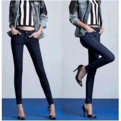 Quần jean nữ lưng cao 1 nút