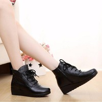 B030D - Giày Boot Da Nữ Thời Trang Cao Cấp