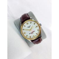 Đồng hồ Longines giá rẻ dây da demi vàng L2733SG