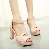 Giày cao gót hở mũi Giày Xinh cao cấp