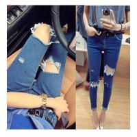 quần jeans skinny rách gối Mã: QD908