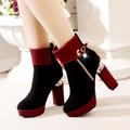 Giày boot thời trang cao gót cao cấp