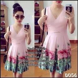 Đầm xoè thiết kế hoa khoét