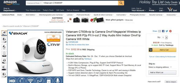 Camera IP Vstarcam C7838WIP 1