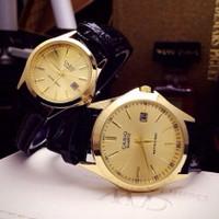 Đồng hồ đôi Casio mặt vàng, giá 1 đôi