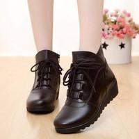 B030N - Giày Boot Da Nữ Thời Trang Cao Cấp