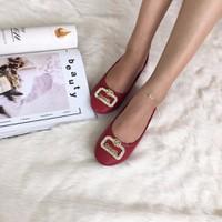 C035- Giày bệt Chimoka đính họa tiết LV, Chanel