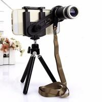 Bộ lens 8X kèm chân chụp hình cho điện thoại