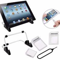 Bộ dụng cụ chuyển đổi nano sim + giá đỡ iPad