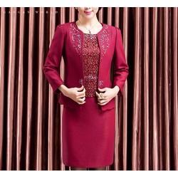 DM48 - HÀNG NHẬP HÀN QUỐC - Bộ đầm tay ngắn kèm áo khoác cao cấp M~4XL