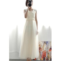 Đầm dạ hội đính ngọc trai