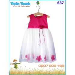 Đầm voan công chúa hoa cực xinh cho bé yêu