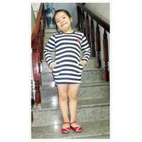 Đầm thun tay dài bé gái
