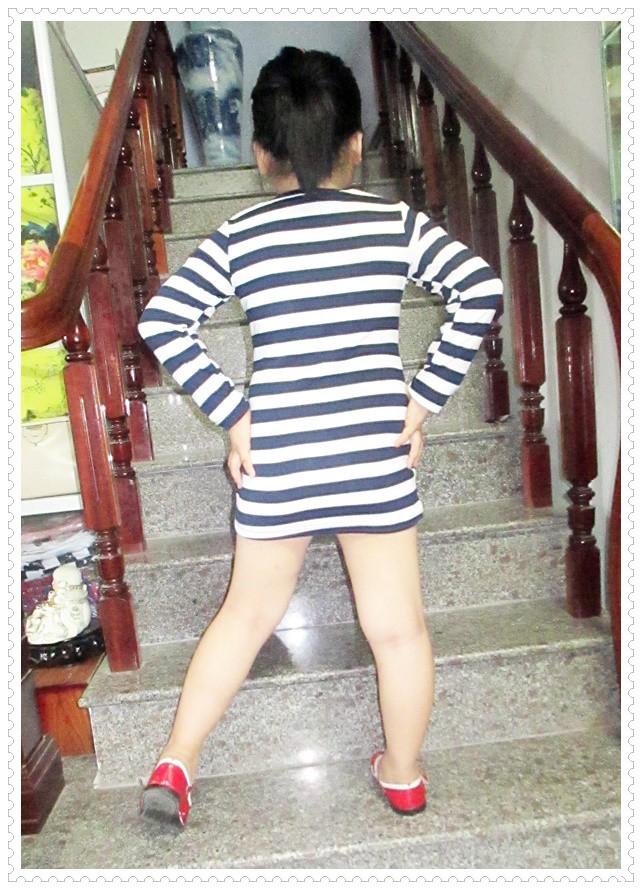 Đầm thun tay dài bé gái 5