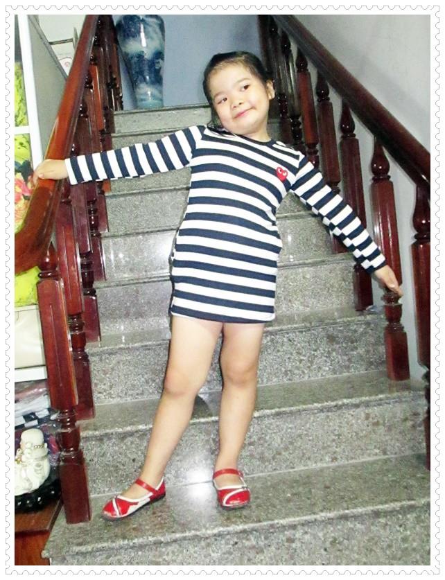 Đầm thun tay dài bé gái 7